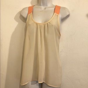anthropologie elodie sheer sleeveless top Size M